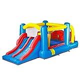 HEMFV Inflable casa de la Despedida Diapositivas Castillo Hinchable Niños Playhouse de Regalo Fiesta de cumpleaños con soplador de Aire, al Aire Libre o de Uso de la Familia