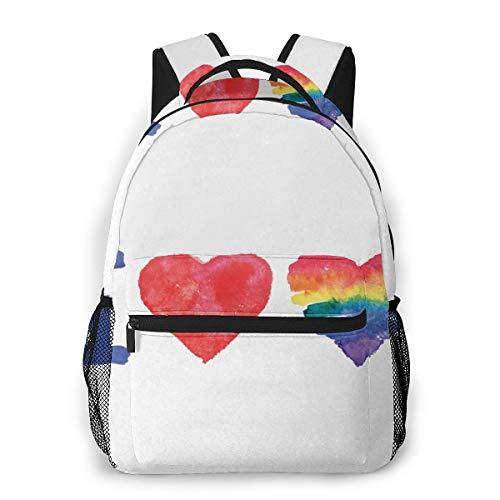 Laptop Rucksack Daypack Schulrucksack Backpack Ich Liebe Akronym Piktogramm, Business Taschen Freizeit Rucksack Arbeits Schultasche für Herren Männer Schüler Schule