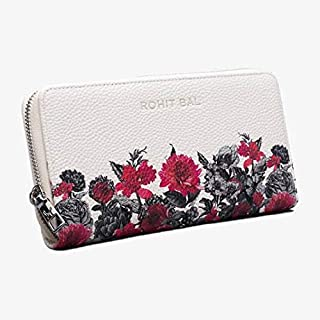 Rohit Bal Women's Synthetic Designer Wallet (White)