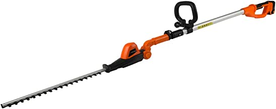 Sponsored Ad – Yard Force 20V Cordless Pole Hedge Trimmer - extendable, with Adjustable Head, 41cm Cutting Length, Lithiu...