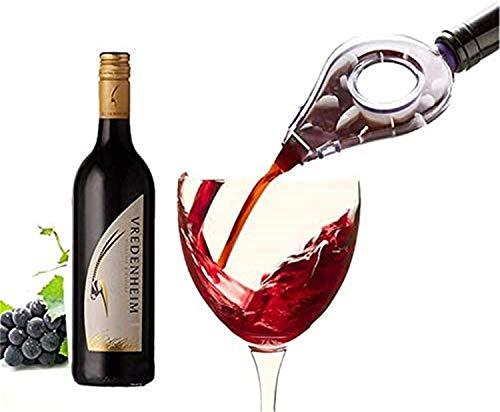 Décanteur de vin en verre à la main, bouteille de vin carafe de la bouteille d'alcool essentiel Aérateur rapide Verser SPOUPTER MINI VOYAGE CHAMPAGNE FILTRE PORTANT (Couleur: Blanc) Accessoires de vin