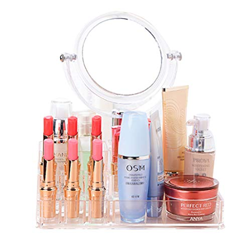 GYY Cas cosmétique pour Les Filles épaisse Miroir Acrylique boîte de Rangement cosmétique Chambre Coiffeuse Creative boîte de Rangement Transparent