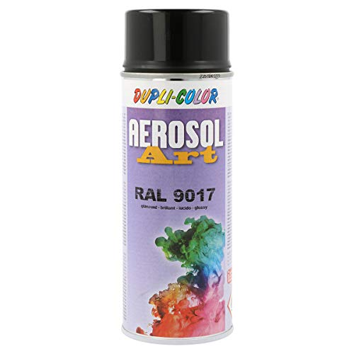 Duplicolor 741456 Aerosol Art RAL 9017 Brillant 400ml
