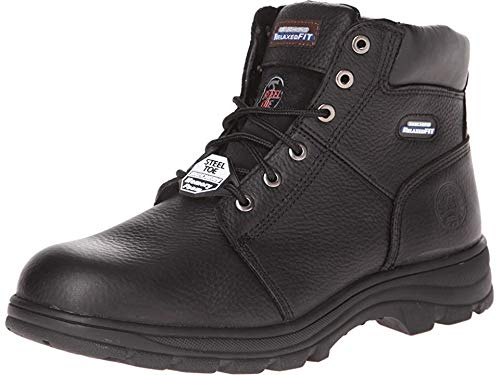 Skechers for Work Men's Workshire Relaxed Fit Work Steel Toe Boot,Black,7 M US