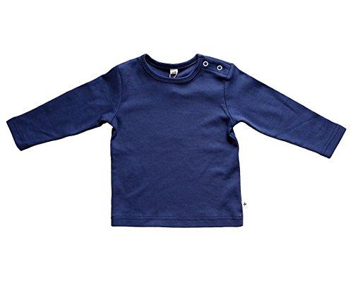rescence naturel/Baby-Kinder Baby Kinder Langarmshirt Bio-Baumwolle GOTS 13 Farben T-Shirt Shirt Jungen Mädchen Gr. 50/56 bis 140 (116, dunkelblau)