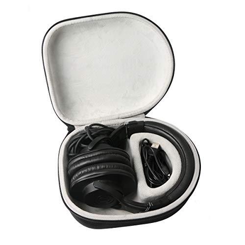 Khanka Duro Viaje Estuche Bolso Funda para Auriculares DJ OneOdio/A70/A71(Caja Solo)(Blanco/Negro)