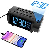 Best Projection Alarm Clocks - LIORQUE Projection Alarm Clock with FM Radio, Temperature Review