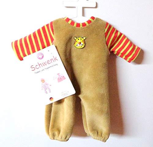 Unbekannt Schwenk Puppenkleidung, Nicki Overall mit Ringelstreifen, 28 - 30 cm Puppen