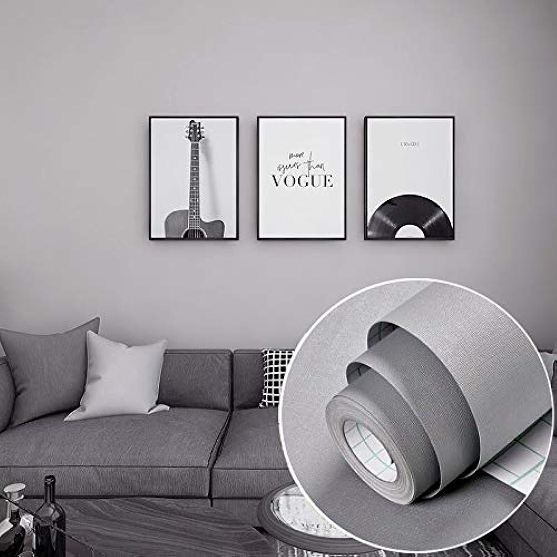 プロテスタント情熱的法律により60cm*5m 壁紙シール 簡単貼付シール 自己接着壁紙 DIY はがせる 防水 耐油性 高温耐性 補修 リメイクシート (グレー, 60cm*5m)