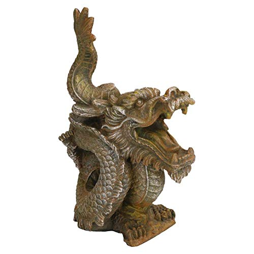 Aquarium-Dekoration Goldener Drache 7,5 x 15 x 19,5 cm