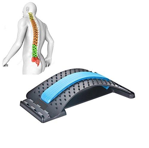 JIAL-SMEIL Akupunktur Rückentrainer - Lendenwirbelsäule Stretching Gerät - Entlasten Bandscheibenvorfälle, un ([schwarz Panel] - Blau)