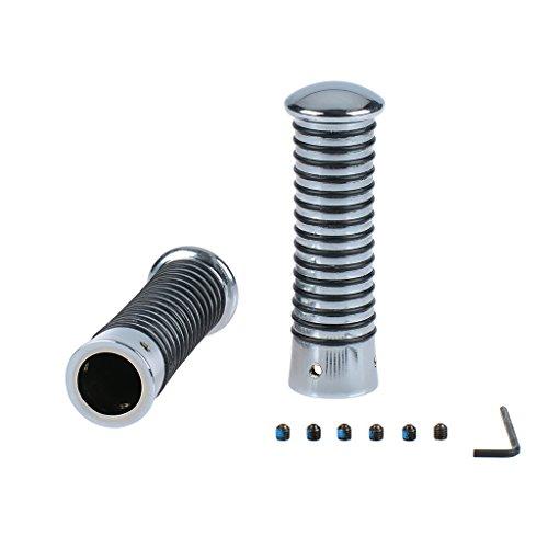 Poignées avec anneaux en O fabriqué Vis inclus Chrome/noir 24–26/24–26 115 mm Vespa PK 125 vam1t – Transmission automatique 84–87