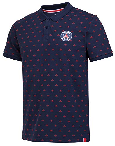 Paris Saint-Germain Poloshirt PSG, offizielle Kollektion, Herrengröße L blau