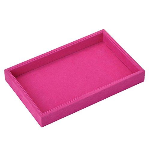 JOVIVI, vassoio per gioielli, portagioie in velluto, espositore e senza, colore: #1 Rosa, cod....