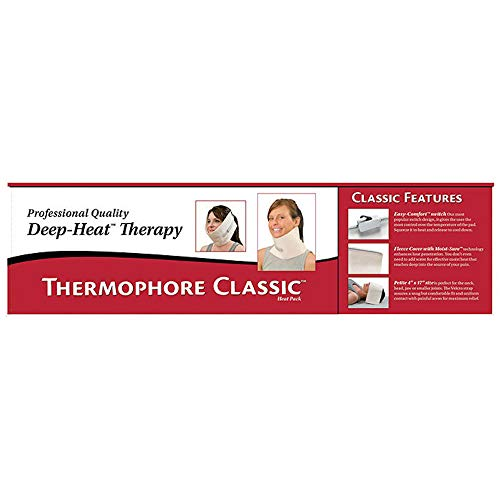 "Thermophore 59762 Classic Moist Heat Pack, Designed to Deliver Intense Moist Heat to Relieve Pain, Muscle Cramps and Stiffness, Stimulates Circulation to Promote Healing, Petite, 4"" x 17"""