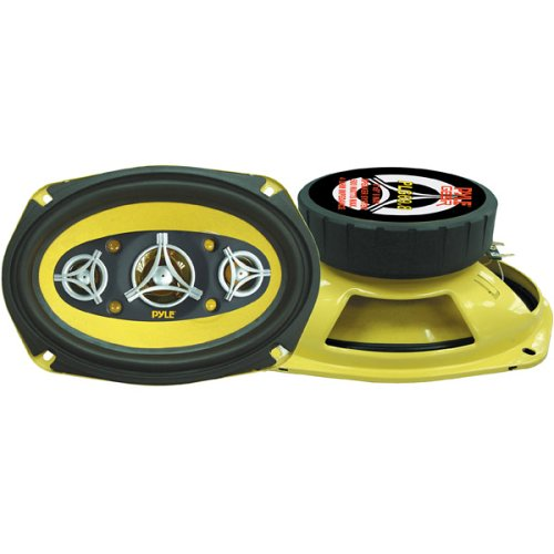 "Car Eight Way Speaker System - Pro 6 x 9 Inch 500W 4 Ohm Mid Tweeter Component Audio Sound Speakers For Car Stereo w/ 120 Oz Magnet Structure, 3.55"" Mount Depth Fits Standard OEM - Pyle PLG69.8 (Pair)"