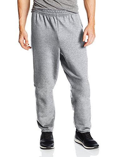 Hanes Men's EcoSmart Fleece Sweatpant, Light Steel, XX-Large (Pack of 2)