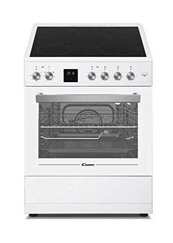 Candy CVE660MW_E - Cocina libre instalación 60cms, encimera vitro 4 zonas y horno eléctrico 60L, clase A, color blanco