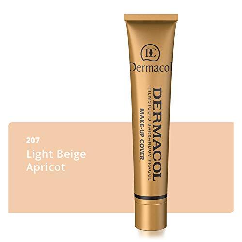 Dermacol Deckendes Make-up Cover für Gesicht und Hals - Wasserfeste Foundation mit LSF 30 für einen makellosen Teint - 207, 30g