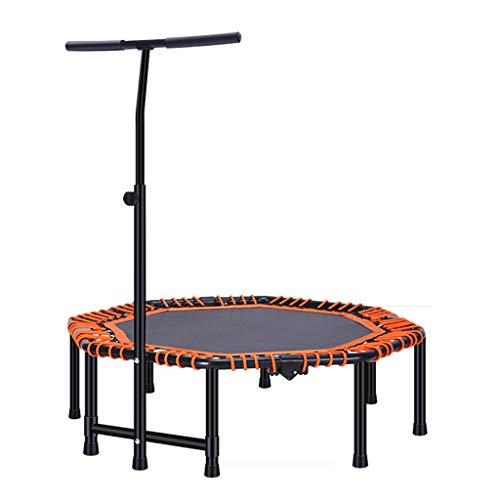 Sport Trampoline 47-Inch Indoor Trampoline Verstelbare Armleuningen Geschikt voor Volwassenen/Kinderen Opvouwbaar Eenvoudig Te Bewaren Maximaal Gewicht Tot 250kg