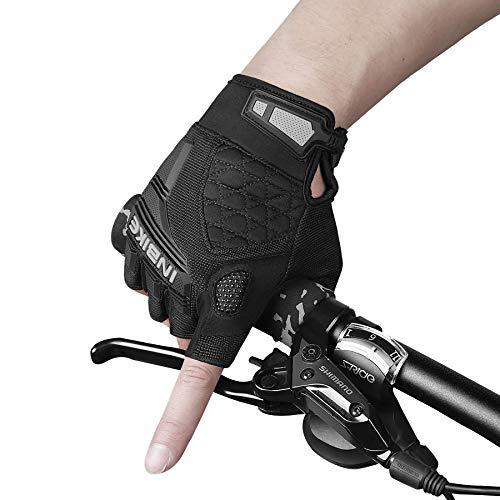 INBIKE Guanti MTB in Gel Guanti Bici Estivi da Ciclismo Uomo(Grigio,M)