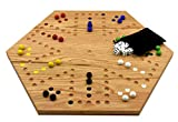 Solid Oak 20 inch Double Sided Aggravation Marble Board Game Hand Painted by Cauff