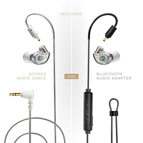MEE audio, M6 PRO 2. Generation Universal In-Ear Monitor + Bluetooth Adapter Combo One Size farblos