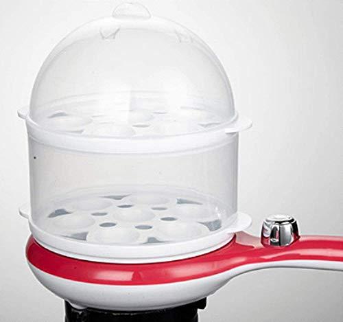 Eierkoker Dubbele eierkoker Multifunctionele koekenpan Mini met afneembaar dienblad Ontbijtmachine Automatische uitschakeling (1-14 eieren anti-aanbak) (upgrade)