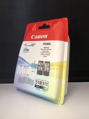 Canon Druckerpatronen PG-510/CL-511, schwarz + color incl. 10 Blatt Fotopapier von Toner & Tinten Fuchs