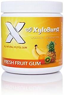 XyloBurst 100% Xylitol, Natural Chewing Gum 100 Count Jar Non GMO, Vegan, Aspartame Free, Sugar Free (Fruit, 1 Jar)