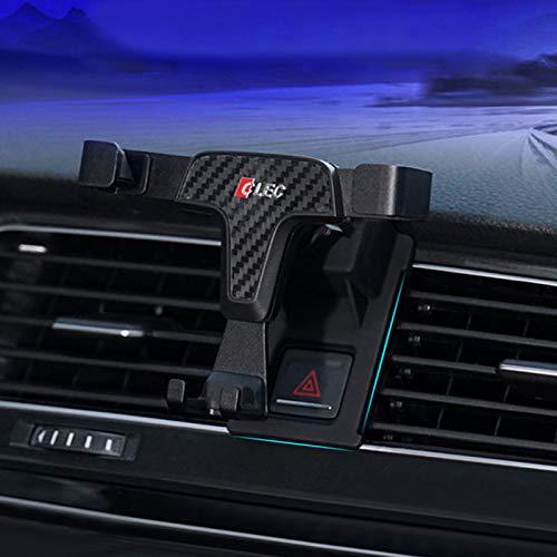 HIGH FLYING für Golf VII 7 Fünftürer / Variant / GTI 2013-2019 Handyhalterung Auto Lüftung KFZ Halterung 360 Grad Drehung (Kohlefaserfarbe)