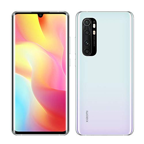 Xiaomi Mi Note 10 Lite Smartphone - 6.47″ 3D Curved AMOLED Display RAM 6GB ROM 64GB Quad Cámara 5260 mAh Blanco [Global Version]