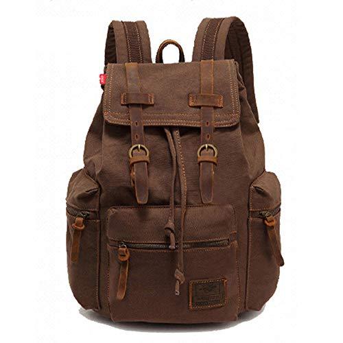 New Fashion Men's Backpack Retro Canvas Backpack School Bag Male Travel Bag Large Capacity Travel Laptop Backpack