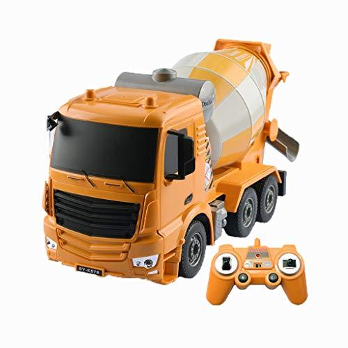 Camión de Juguete de Control Remoto Excavadora Juguete vehículo eléctrico de Juguete Excavadora simulación de aleación de Juguete de Control Remoto (Color : Cement Truck)