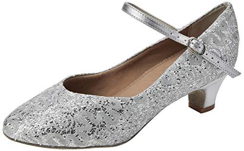 So Danca Damen Bl116 Standard-& Latintanzschuhe, Silber (Silver Sparkle Silver Sparkle), 39/40 EU