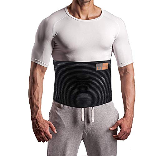 Plus Size Umbilical Hernia Support Belt I Pain and Discomfort Relief from Umbilical, Navel, Ventral and Incisional Hernias I Hernia Binder for Big Men and Large Women I L/XL