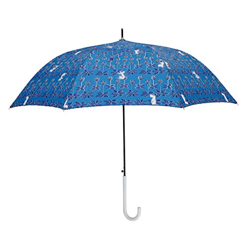 小川(Ogawa) 長傘 雨晴兼用雨傘 ジャンプ式 60cm 8本骨 ムーミン/ブルーミングメイズ UV加工 はっ水 85807