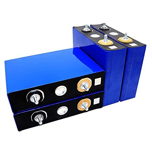 LeiQuanQuan 4 Piezas 3,2V 100 Ah Batería Lifepo4,Batería De Litio De Grado A, Batería De Fosfato De Hierro Y Litio De Ciclo Profundo para Sistema Solar, RV, Barco (Color : 4PCS, Size : Fast)