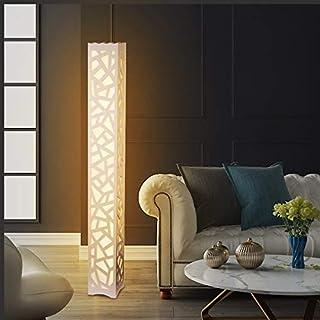 Moderne Lampe de Sol, ELINKUME LED Lampadaire Blanc Chaud PVC Bois Plaque en Plastique à Pédale Intérieur Éclairage Parfai...