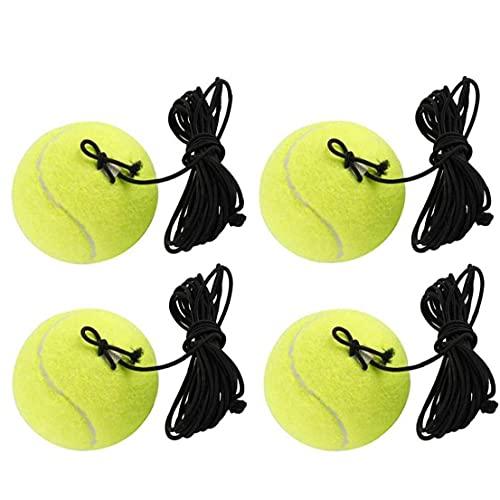 4 Pc De La Bola De Entrenamiento De Tenis Con La Herramienta De Cordaje Trainer Bolas Práctica Auto Entrenador Con El Equipo De La Cuerda Elástica Para El Tenis Entrenador Ejercicio De Práctica