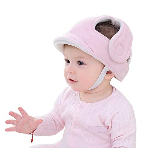 Baby Schutzhelm Säugling Atmungsaktiv Sicherheit Kopfschutz Mütze Kinder Schutzhelm Baumwolle Hut Kleinkind Verstellbarer Kopfschutzkappe Lernen Laufen und Sitzen