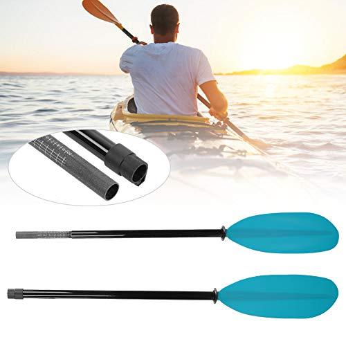 Wosune Paleta Que Practica Surf de 970g, Paleta del Kayak, Uso al Aire Libre para Hacer Surf Kayak Inflable del Barco(Blue, 215-225cm)