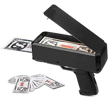 Money Guns Shooter Toy Gun Spray Money Rain Handheld Spary Cash Gun for Game Movies Supplies Fun Game Props for Party Birthday Club