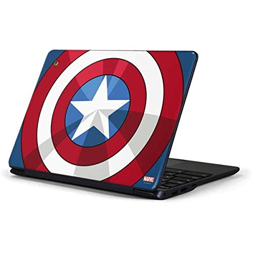Skinit Decal Laptop Skin for Chromebook 3 11.6in 500c13-k01 - Officially Licensed Marvel/Disney Captain America Emblem Design
