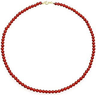 Collana in corallo rosso naturale mediterraneo, pescato e lavorato in maniera sostenibile. Dimensione delle sfere 4,5 mm -...