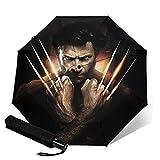 X-Men Wolverine Parapluie automatique portable à trois volets, coupe-vent, imperméable, anti-UV, ouverture/fermeture automatique, compact et portable