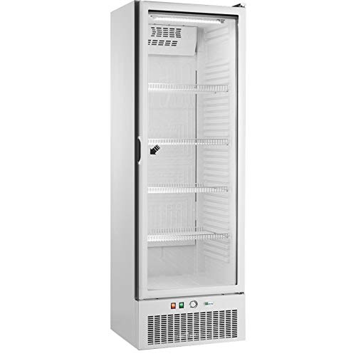 AFI Collin Lucy - Armario refrigerado positivo para puerta de cristal (341 L) blanco
