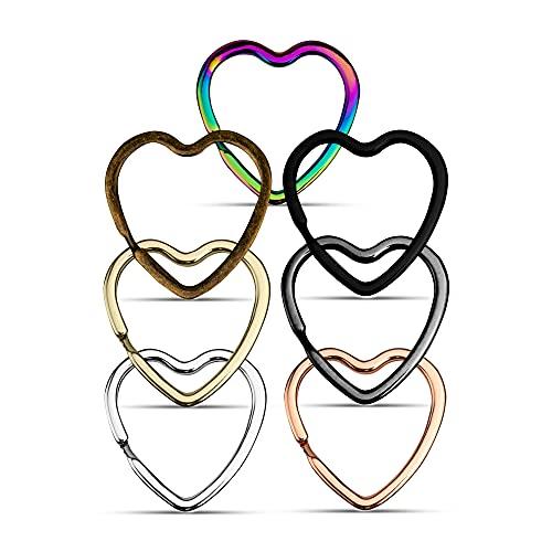 KEYU Llavero en forma de corazón para parejas, corazón, oro rosa, plata, bronce, negro, rosa Todas las variantes de color Talla única