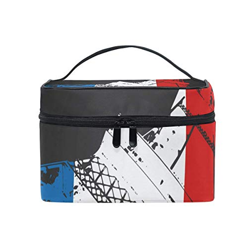 Paris Eiffer Tower Cosmetic Bag Toiletry Travel Makeup Case Handle Pouch Multi-Function Organizer for Women