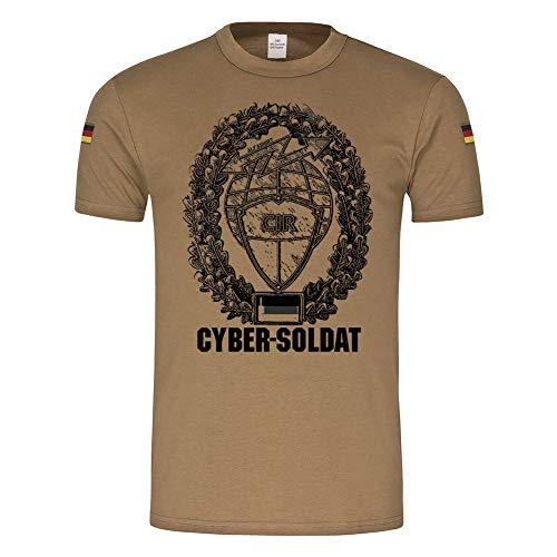 Copytec BW Tropen Barettabzeichen Cyber-Soldat CIR Informationsraum#22125, Farbe:Khaki, Größe:Herren L